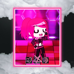 gachaclub gachaedit pinkaesthetic pink heart star clouds cool freetoedit