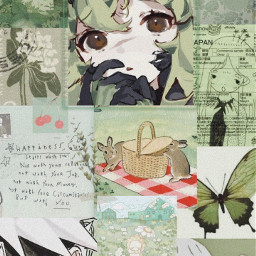 freetoedit green archive collage aesthetic edit wallpaperedit wallpaper naruto aestheticedit greenaesthetic pinterest