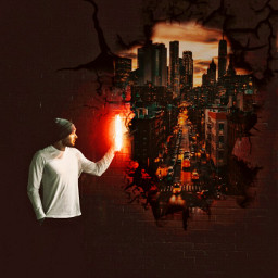 dark redlight man city ruinedwall freetoedit