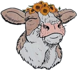 cow cow🐄 cutecow cottagecore cottagecoreaesthetic cowflower cottagecorecow freetoedit