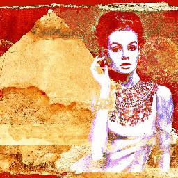 freetoedit egyptomania redandgold timeless styleroyale fashionart remixedbyme