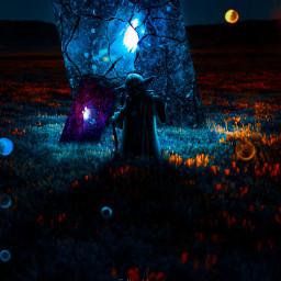 followmeplease portal nature night yodamaster blue shadow purple green orange madewithpicsart followme freetoedit
