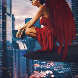 freetoedit angel street downtown skyscrapers