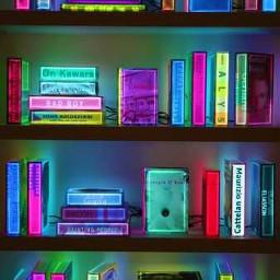 neonart flourescentlights neonbookshelf bg freetoedit