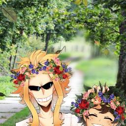 challenge myheroacademia mha allmight izukumidoriya midoriya deku anime freetoedit srcflowerpower flowerpower