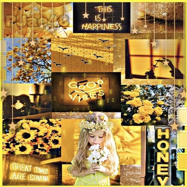 #madewithpicsart #2021 #myceeation #myedit #mydesign #collageart #sayings #littlegirldreams #yellowandblack #flowers #more #picsartstickers