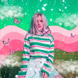 girl pink star freetoedit