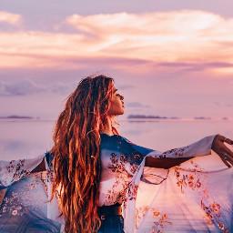 freetoedit freetoremix sunset ocean