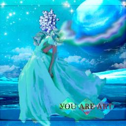 freetoedit arcticstar youareart iceblue fashionart frozenfashion jeweled bluediamond remixedbyme
