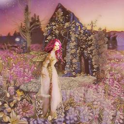 daffodil abbey fairy fairies flowersaesthetic meadow ancient ruins fairymeadow sundown sunset sunsetsky sundownmoon artography artographybypamela englishabbey celticwoman artographypamela pamelaann freetoedit