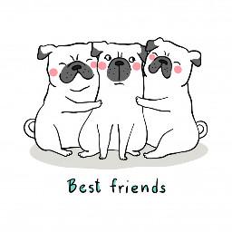 cute bffs three dogs dog puppies adorable hug hugs remixit freetoedit