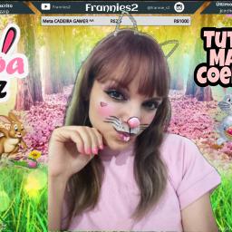 coelha coelho coelhinha bunny rabbit frannies2 makeup cosplay maquiagem pinturafacial fantasia fantasy costum halloween aovivo diadasbruxas streamer livestream live cosplayer