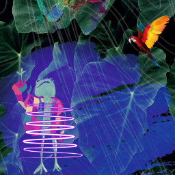 rain forests leavesremix neonart freetoedit