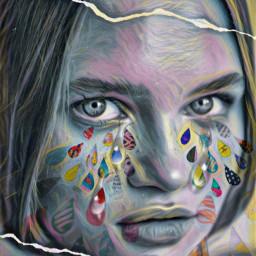 pixarrts freelance786 colorful tearsforwatercontest tears freetoedit rcpaperdrops paperdrops