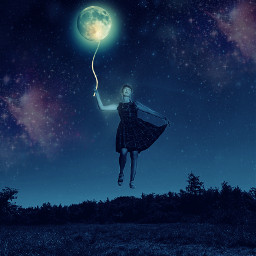 heypicsart makeawesome girl flyinggirl moon skybackground sky stars galaxy replayonmyimage myedit picsartedit freetoedit