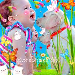 baby pet dog spring rcsoftpastelaesthetic freetoedit