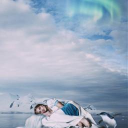 freetoedit icefloe auroraborealis