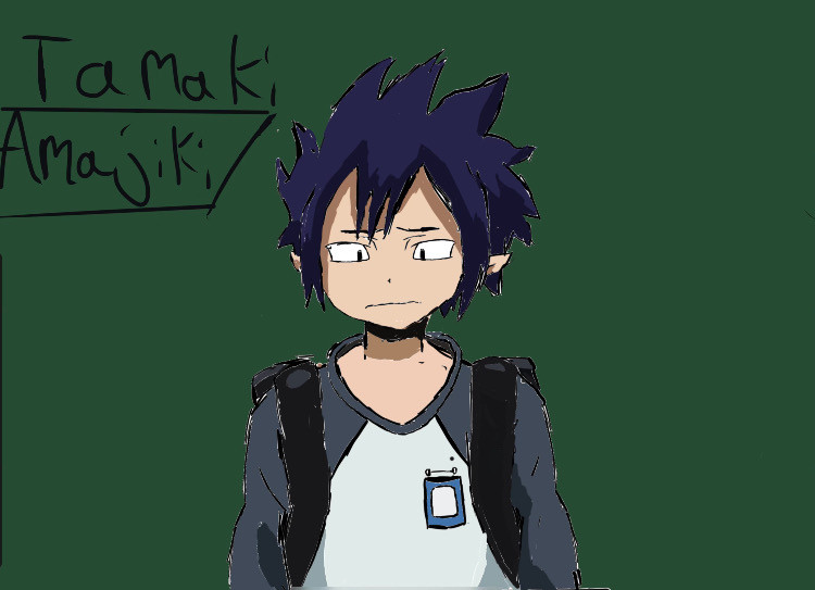 -welcome to MrTacoPants cafe -  ༶•┈┈⛧┈♛ ┈┈⛧┈♛ ♛┈⛧┈┈•༶ Your order(character) tamaki amajiki  Baking time(how long it took):  1hr  Who it's for(requested by) myself ༶•┈┈⛧┈♛ ༶•┈┈⛧┈┈⛧┈┈•༶  Chefs note »»——⍟——«« Tamaki is my favourite character in mha and have you watched the first 2 episodes of mha season 5 yet? Its realy good!! Ok bye  The waiters(Tag list) @rock_hardhero @mytsukki @myynaruto @savannah_uchiha @bubble-tea-boba @panda-_-chan @hermione5000 @yur_local_salty_boy @anime_artist_sakura @textuphere @weeb-_-official      #hi