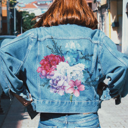 ootd outfit flowers patch vintage freetoedit