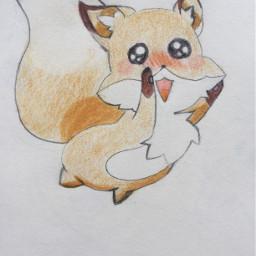 cute kawaii mydrawing fox fuchs kawaiifox kawaiidrawing anime animedrawing foxdrawing zeichnung meinezeichnung