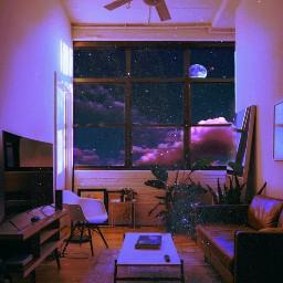 dreamy windowview purpleaesthetic surreal freetoedit