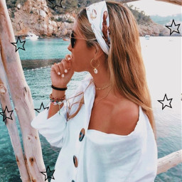 verseoftheday hair water lake aesthetic peachy girl star freetoedit