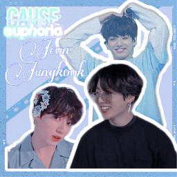 jeonjungkook jungkook kookie bts edit kpoo blue aesthetic bunny freetoedit