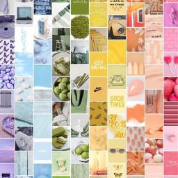 freetoremix collage aesthetic aestheticcollage fruit rainbow purple yellow pink green orange blue freetoedit