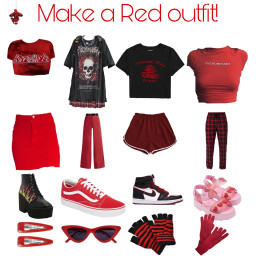 makeaoutfit red freetoedit