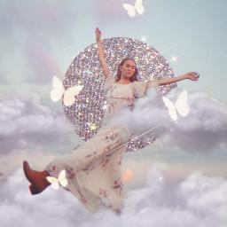 glitter clouds glitteraesthetic aesthetic butterfly freetoedit