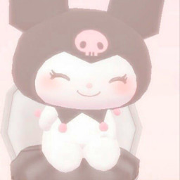 kuromi kuromisanrio sanriocore sanrio black pink white cute adorable pastel