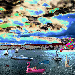 collaboration photography river riverbank water yachts skyscape rtfartee myedit mysticker curvestool colourchange