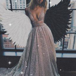 aesthetic wings angel freetoedit rcyinyangwings yinyangwings