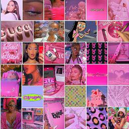 baddieaesthetic baddiecollage baddie pink pinkcollage