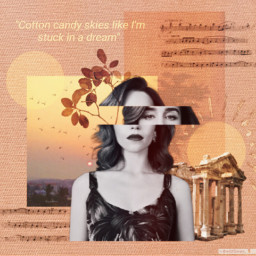 collage collageart orange gold goldenhour freetoedit