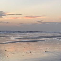 beach sunset nofilter