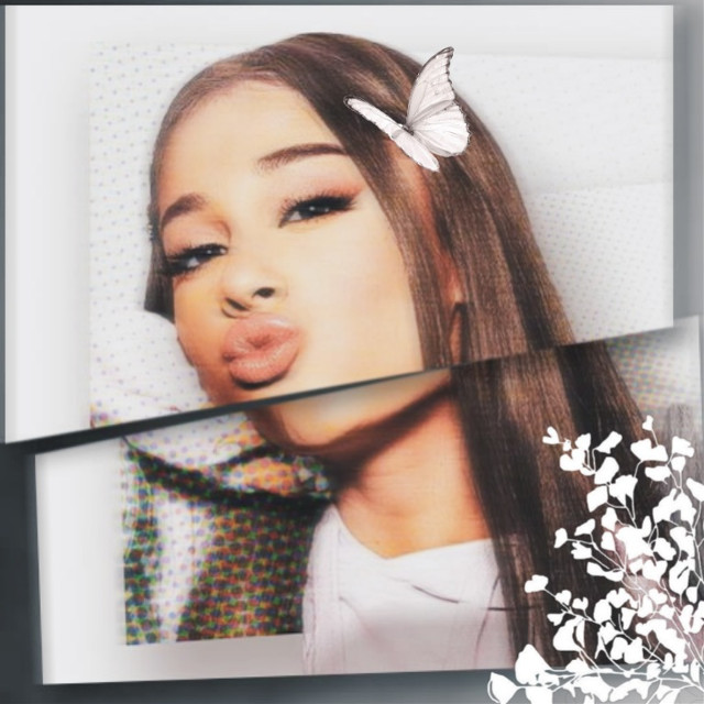ariana edit! tell me if you like it :) also please like and follow if you do like it! it would mean a lot :)  #arianagrande #aesthetic #edit #butterfly #flower #grey #beautiful #love #like #follow #remix #tysmforthefollowers