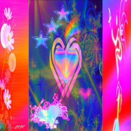 colorful abstract rainbow love heart