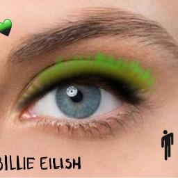 interesting billieeilish makeup cool green art freetoedit