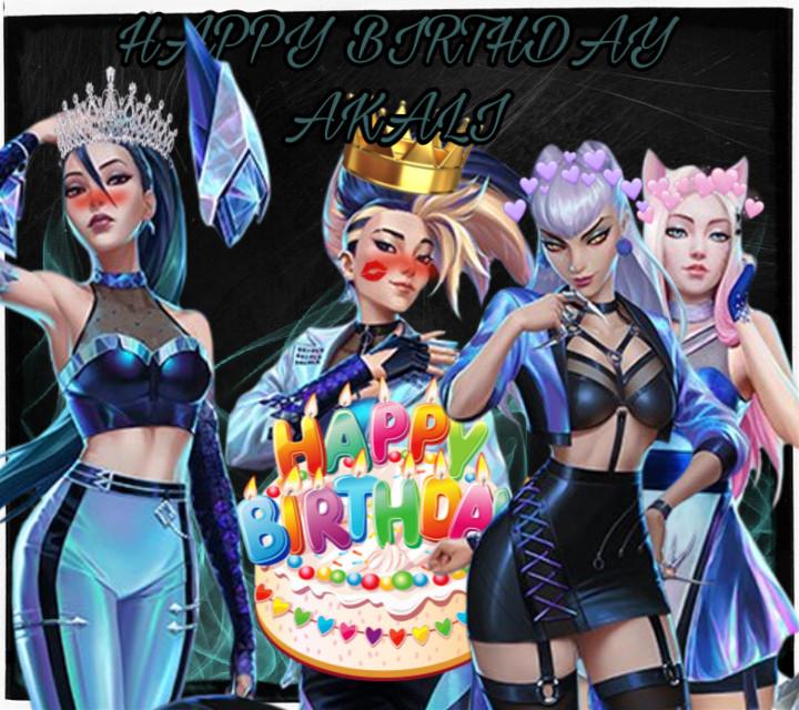 Happy bday Akali⚔️🥺😜❤️ #akalikda #kdakali #akali #kaisakda #kdakaisa #kaisa #evelynnkda #kdaevelynn #evelynn #ahrikda #kdahri #ahri #kda #bday #happybirthday #birthday #kpoprapper #kpop #kpopqueens #kpopqueen #queen #queens