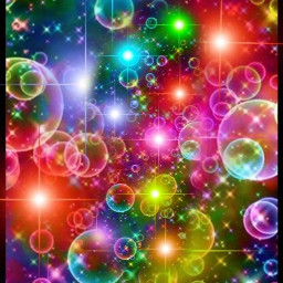 colorful abstract rainbow bubbles balls colors design