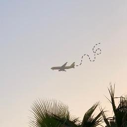 airplane lines sky freetoedit