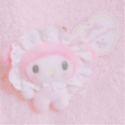 pink mymelody my melody soft plush plushie doll baby babyaesthetic softaesthetic mymelodycore mymelodysanrio mymelodyaesthetic mymelodyedit mymel sanriocore aesthetic cute adorable white yellow pinkaesthetic selfcare loveyourself