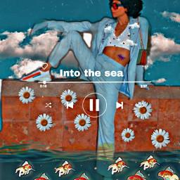freetoedit flower vintage aesthetic art srcgoldenfish goldenfish picsart edit inspiration followme contemporaryart vintageaesthetic tumblr fish mar agua sea blueaesthetic blue clouds retroaesthetic glamour creative aestheticwallpaper