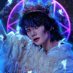 beomgyu txt kpop wallpaper lockscreen background dark fantasy nature blue manipulation manipulationedit winter