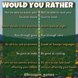 freetoedit remixit new game blossomgames template bored blossom aboutme quiz wouldyourather thisorthat choose yellow