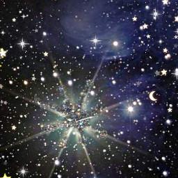 freetoedit stars space black sparkle twinkle moons glittery silver gold ninahayess srcglitterpaintstroke glitterpaintstroke