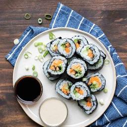 sushi veggiesushi japan japanesefood food yum yummy ninahayess freetoedit