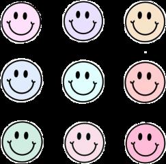 pastel sticker stickerpack pack pastelsticker pastelpack pastelstickerpack smiley face smileyface emoji pink purple yellow teal green mintgreen blue freetoedit