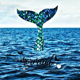 mermaid ocean sea blue quote mermaidquote ninahayess freetoedit
